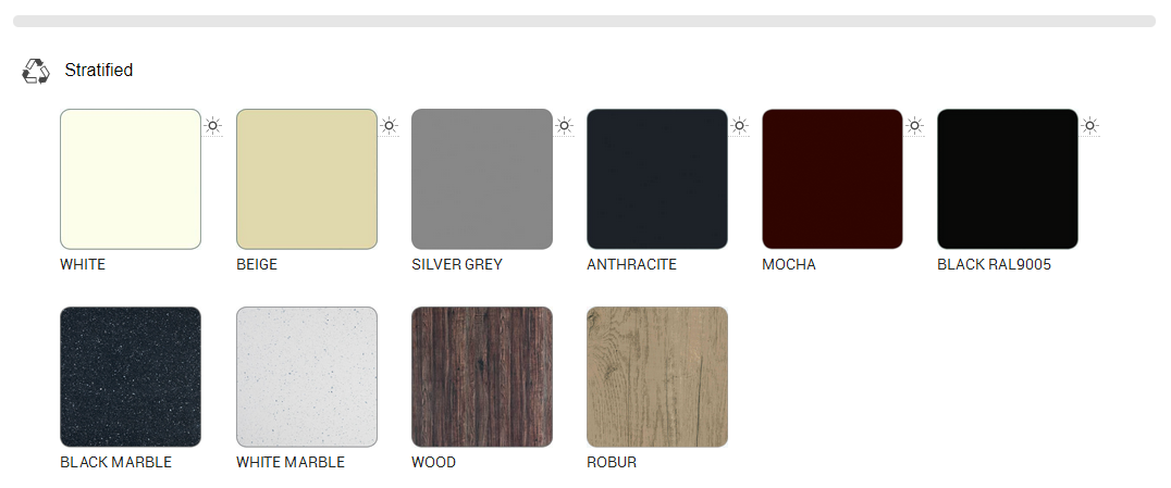 compact laminate colors