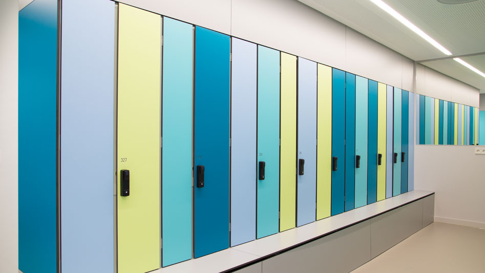 Best L Type HPL Lockers For Employee Cloakroom